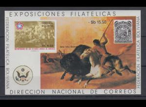 Bolivien 1976 200 Jahre Unabhängigkeit USA Mi.-Nr. Block 66 **
