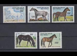 Mali 1980 Pferde Mi-Nr. 762-766 **