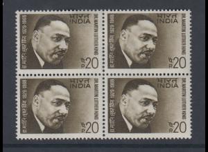 Indien 1969 Martin Luther King Mi.-Nr. 470 4er-Block**