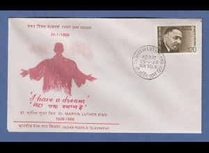 Indien 1969 Martin Luther King Mi.-Nr. 470 Ersttagsbrief