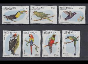 Nicaragua 1981 Vögel Mi.-Nr. 2217-2223 kpl. Satz 7 Werte **