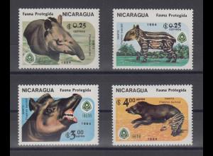 Nicaragua 1984 geschützteTiere Mi.-Nr. 2549-2552 kpl. Satz 4 Werte **