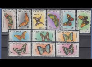 Nicaragua 1967 Schmetterlinge Mi.-Nr. 1434-1445 kpl. Satz 12 Werte **