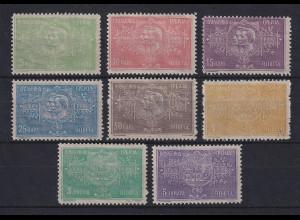 Alt-Serbien 1904 Karageorge und Peter I. Sondermarken kpl. Satz Mi.-Nr. 76-83 *