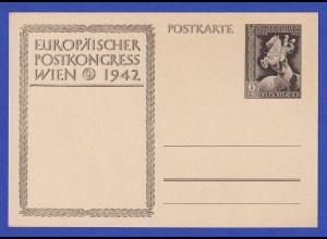 Deutsches Reich Ganzsache Postkongress 1942, rahmfarben P294a ungebraucht