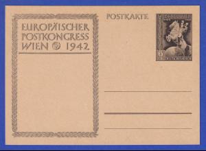 Deutsches Reich Ganzsache Postkongress 1942, sämisch P294b ungebraucht