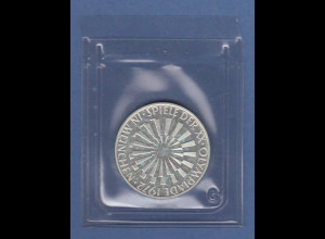 Olympische Spiele 1972, 10DM Silbermünze Spirale MÜNCHEN in PP, Buchstabe G