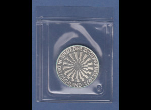 Olympische Spiele 1972, 10DM Silbermünze Spirale DEUTSCHLAND in PP, Buchstabe G