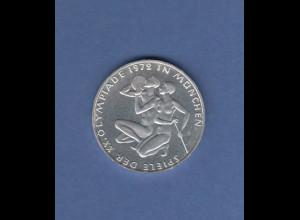 Olympische Spiele 1972, 10DM Silbermünze Sportlerpaar in PP, Buchstabe J