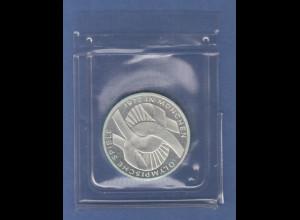 Olympische Spiele 1972, 10DM Silbermünze verschlungene Bänder in PP, Buchstabe J
