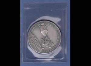 Silbermedaille Mondflug 1969 Apollo 11 Wernher von Braun edel mattiert 25g Ag999