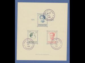 Luxemburg 1939 Blockausgabe Großherzogin Charlotte Mi.-Nr. Block 3 mit ET-O