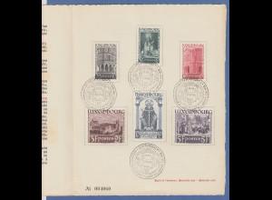 Luxemburg 1938 Heiliger Willibrord Echternach Mi.-Nr. 309-314 kpl. O im Folder