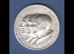 Silbermedaille Päpste Johannes 23. Paulus 6. Pius 12. 38,8 Ag 1000