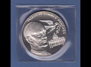 Silbermedaille Papst Paul VI, Friedenstaube, Petersdom 50g Ag 999,9