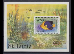 St. Lucia 1978 Fisch Mi.-Nr. Block 14 **