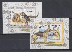 Nevis 1995 Hunde Mi.-Nr. Block 89-90 **