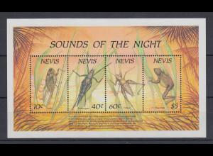 Nevis 1989 SOUNDS OF THE NIGHT Mi.-Nr. Block 19 **