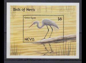 Nevis 1991 Silberreiher Mi.-Nr. Block 33 **