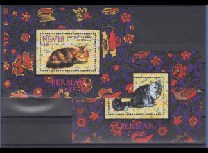 Nevis 1994 Perser-Katzen Mi.-Nr. Block 78-79 **