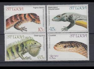 St. Lucia 1985 Schmetterlinge Mi.-Nr. 732 - 739 **