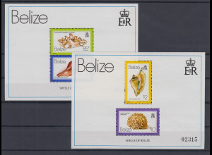 Belize 1980 Muscheln Mi.-Nr. Block 14 - 15 **