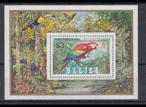 Belize 1984 Papagei Mi.-Nr. Block 68 **