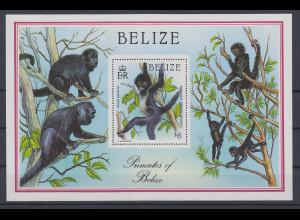 Belize 1987 Affen Mi.-Nr. Block 92 **
