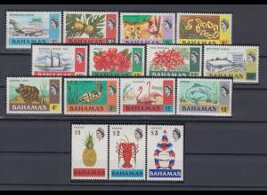 Bahamas 1971 Freimarken Mi.-Nr. 318 - 332 **