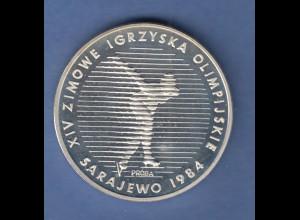Polen Probe / Proba Oympische Winterspiele Sarajevo 1984 500 Zloty 1983 PP