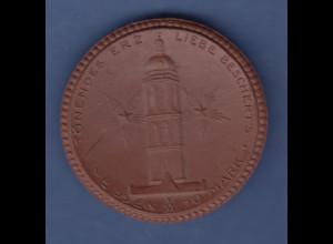 """Medaille Meissen Notgeld 10 Mark 1921 """"Tönendes Erz , Liebe beschert's"""""""