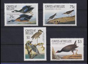 Cayes of Belize 1985 Vögel Mi.-Nr. 22-25 Satz kpl. **
