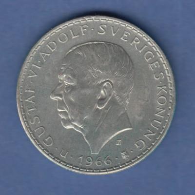 Schweden, Silbermünze 100 Jahre Verfassungsreform Gustav VI. Adolf 1966