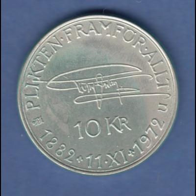 Schweden, Silbermünze 90. Geburtstag von König Gustav VI. Adolf 1972