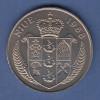 """Niue Münze 5 Dollar John F. Kennedy """"Ich bin ein Berliner"""" 1988 Wappen"""