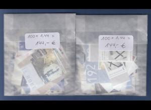 Frankaturware Deutschland orig. postfrisch, 200x1,44€ = 288€ Frankaturwert