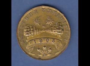 Zanzibar Exhibition 1905 seltene Bronze-Medaille, Durchmesser 34mm , ca. 16g