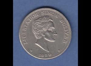 Kolumbien 1959 Kursmünze Simon Bolivar 50 Centavos