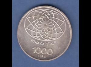 Italien Silber-Münze 1000 Lire 1970 Concordia, Hauptstadt Rom