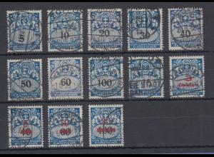 Danzig 1923-32 blaue Portomarken Wappen Mi.-Nr. 30-42 13 Werte sauber gestempelt