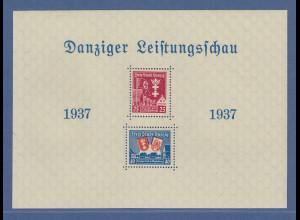Danzig 1937 Blockausgabe Leistungsschau Mi.-Nr. Block 3 ** Luxus-Qualität !