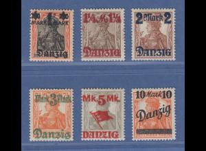 Danzig Germania mit Aufdruck Danzig / Wert OHNE UNTERDRUCK 41-46 III kpl. Satz *