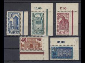 Danzig 1936 WHW Bauwerke Mi.-Nr. 262-266 kpl. Satz postfrisch **