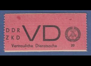 DDR Dienstmarken D für vertrauliche Dienstsachen Mi.-Nr. 1A **