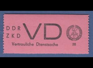 DDR Dienstmarken D für vertrauliche Dienstsachen Mi.-Nr. 2 **