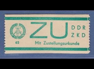 DDR Dienstmarken E für Sendungen mit Zustellungsurkunde ZU Mi.-Nr. 1 **