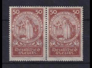 Dt. Reich 1924 Nothilfe Hl. Elisabeth 50+150 Pfg. Mi-Nr. 354 waager. Paar *