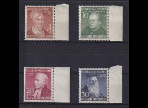 Bundesrepublik 1952 Wohlfahrt, Mi.-Nr. 156-159 rechte Seitenrandstücke **