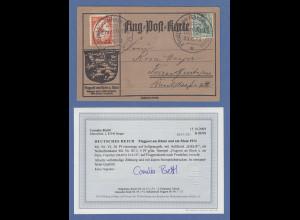 Dt. Reich 1912 Halbamtliche Flugpost E.EL.P. 20Pfg-Wert Mi.-Nr. VI auf Karte