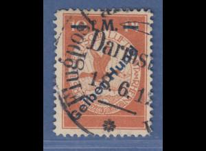 Dt. Reich 1912 Halbamtliche Flugpost 1 M Gelber Hund Mi.-Nr. IV gestempelt